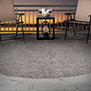 Lavish Home Outdoor/Indoor Shag Rug - Platinum - 8' Round