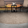 Lavish Home Outdoor/Indoor Shag Rug - Taupe - 8' Round