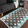 Lavish Home Chindi Trellis Accent Rug - 3.5x5 - Blue