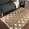 Lavish Home Chindi Trellis Accent Rug - 3.5x5 - Brown