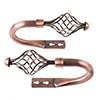 Lavish Home Twisted Holdback Pair - Copper