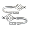Lavish Home Twisted Holdback Pair - Silver