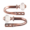 Lavish Home Resin Holdback Pair - Copper