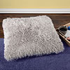 Oversized Floor or Throw Pillow Square Luxury Plush? Shag Faux Fur Glam D�cor Cushion for Bedroom Living Room or Dorm by Lavish Home (Grey)