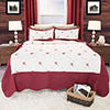 Lavish Home Chloe 3 pc Embroidered Quilt Set Full/Queen
