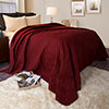 Burgundy Quilt Coverlet-For Twin Size Bed-Basket Weave Quilted Pattern-Soft & Lightweight Bedding for All Seasons-Solid Color Bedspread by Lavish Home