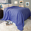 Lavish Home Solid Color Bed Quilt - Full/Queen - Navy