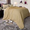 Lavish Home Solid Color Bed Quilt - Full/Queen - Taupe