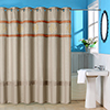 Lavish Home Radcliff Embroidered Shower Curtain with Grommets - Rust
