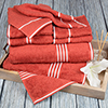 Lavish Home Rio 8 Piece 100% Cotton Towel Set - Brick