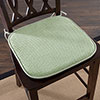 Memory Foam Chair Cushion for Dining Room, Kitchen, Outdoor Patio and Desk Chairs- Machine Washable Pad with Nonslip Back by Lavish Home- Green