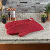 Oven Mitts, Set of 2 Oversized Quilted Mittens, Flame and Heat Resistant By Lavish Home (Burgundy)