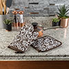Oven Mitt And Pot Holder Set, Quilted And Flame And Heat Resistant By Lavish Home (Chocolate)