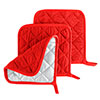 Pot Holder Set, 3 Piece Set Of Heat Resistant Quilted Cotton Pot Holders By Lavish Home (Red)