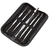 6 Piece Blackhead and Blemish Remover Tool Set - Personal Dermatology Implements for Acne Control and Comedone Extraction with Carry Case by Bluestone