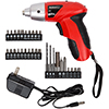 Set of 2 Trademark 4.8V Cordless Screwdrivers w/ LED Light