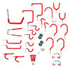 Stalwart 30 piece Hang it Yourself Home Organization - Red