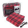Stalwart 12 Volt Red Plaid Electric Blanket for Automobile