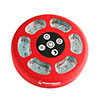 Wakeman 70 Lumen LED Round Camping Tent Light - Red