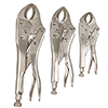 Stalwart 3 PC Locking Plier Set with Storage Pouch