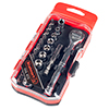 Stalwart Ratchet, Metric Socket and Bit Set 23 PC