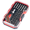 Ratcheting Screwdriver with 34 Piece Bit Set - Stubby Handle Multitool with Metric and SAE Measurements for Interchangeable Bits by Stalwart