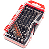 Screwdriver Bit Set, 67 Pieces ? Compact Durable Metric and SAE Multipurpose Specialty Bit Set With Storage Case for Power and Hand Tools by Stalwart