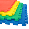 Stalwart 4 Pk Interlocking EVA Foam Floor Mats Multi Color 24x24x0.50
