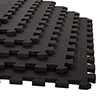 Stalwart 6 Pk Interlocking EVA Foam Floor Mats Black 24x24x0.50