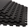 Stalwart 6 Pk Interlocking EVA Foam Floor Mats Black 24x24x0.375