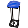 Portable Trash Bag Holder- Collapsible Trashcan for Garbage and Indoor / Outdoor Use By Wakeman Outdoors -Ideal for Camping Recycling and More (Blue)