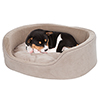 PETMAKER Small Cuddle Round Microsuede Pet Bed  - Clay