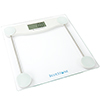 Digital Body Weight Bathroom Scale- Step-On Weighing Machine-Accurate Measurements in 0.2 Increments-Large LCD Display & Clear Glass Base by Bluestone