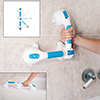 Swivel Suction Shower Handle 20?- 180 Degree Rotation Locking Suction Cup Grab Bar with Dual Grip for Shower and Tub Stability, Balance by Bluestone