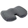 Bluestone Contoured Memory Foam Coccyx Cushion with Gray Plush Cover