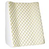 Wedge Pillow ? Memory Foam Contoured Incline Triangle Backrest for Side and Back Sleepers and Upright Sitting with Machine Washable Cover by Bluestone