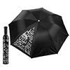 Trademark Home Wine Bottle Umbrella - Black & Silver