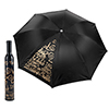 Trademark Home Wine Bottle Umbrella - Black & Gold