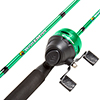 Fishing Pole ? 64-Inch Fiberglass and Stainless Steel Rod and Pre-Spooled Reel Combo for Lake, Pond and Stream Casting by Wakeman Outdoors (Green)