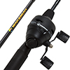 Fishing Pole ? 64-Inch Fiberglass and Stainless Steel Rod and Pre-Spooled Reel Combo for Lake, Pond and Stream Casting by Wakeman Outdoors (Black)