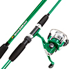 Fishing Rod and Reel Combo, Spinning Reel, Fishing Gear for Bass and Trout Fishing, Great for Kids, Green - Swarm Series by Wakeman