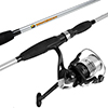 Fishing Rod and Reel Combo, Spinning Reel Fishing Pole, Fishing Gear for Bass and Trout Fishing, Silver ? Lake Fishing, Strike Series by Wakeman