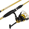 Fishing Rod and Reel Combo, Spinning Reel Fishing Pole, Fishing Gear for Bass and Trout Fishing, Gold ? Lake Fishing, Strike Series by Wakeman