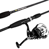 Fishing Rod and Reel Combo, Spinning Reel Fishing Pole, Fishing Gear for Bass and Trout Fishing, Black ? Lake Fishing, Strike Series by Wakeman