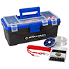 Wakeman Fishing Single Tray Tackle Box 55 Pc Tackle Kit - Bold Blue