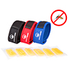 Natural Mosquito Repellent Bracelet Wristband- Safe, DEET Free Insect Protection, 3 Pack with 6 Refills By Wakeman Outdoors (Red, Blue, Black)
