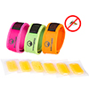 Natural Mosquito Repellent Bracelet Wristband- Safe, DEET Free Insect Protection, 3 Pack with 6 Refills By Wakeman Outdoors (Pink. Green, Orange)