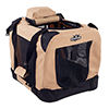 PETMAKER Portable Soft Sided Pet Crate-16x12 inches-Khaki