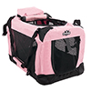 PETMAKER Portable Soft Sided Pet Crate-20 x 12 inches-Pink