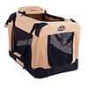 PETMAKER Portable Soft Sided Pet Crate-24 x 16 inches-Khaki